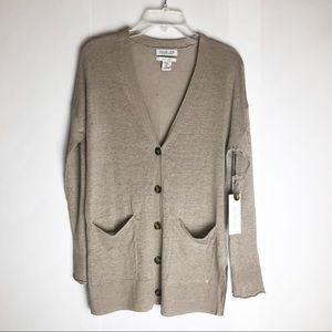 New Rachel Zoe 100% Linen Cardigan Medium